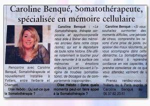 Caroline benque - somatothérapie - somatothérapeute